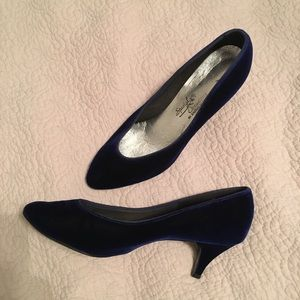 Shoes - Blue Velvet Shoes